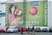 Farmářské trhy u nákupního centra Futurum v Ostravě  v sobotu 8. dubna.
