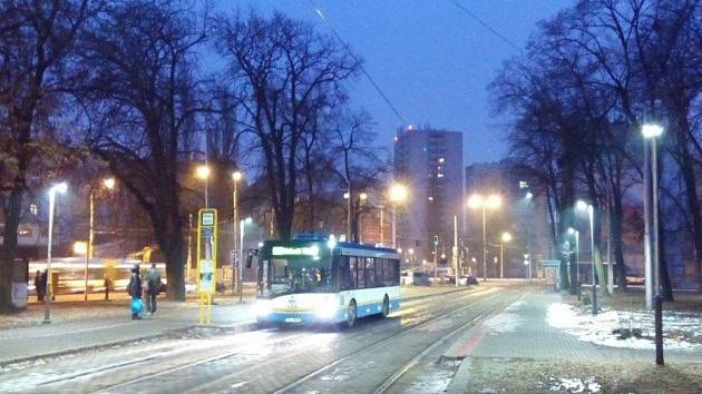Sadu Boženy Němcové v Ostravě-Přívoze.