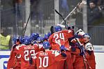 Mistrovství světa hokejistů do 20 let, skupina B: ČR - Rusko, 26. prosince 2019 v Ostravě. Na snímku radost Česka.