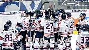 Utkání předkola play off hokejové extraligy - 2. zápas: HC Vítkovice Ridera - HC Sparta Praha, 12. března 2019 v Ostravě. Na snímku radost domácího týmu.
