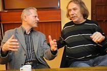 Michael Tarant (vlevo) a Jaromír Nohavica