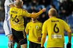 Utkání 15. kola první fotbalové ligy: FC Baník Ostrava - MFK Karviná, 25. listopadu 2017 v Ostravě. (vlevo) Tomáš Mičola a Marek Janečka.