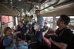 Projížďka historickým trolejbusem 28. července 2018 v Ostravě.