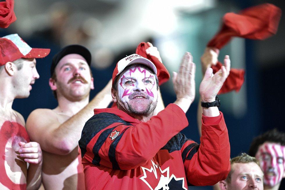 Mistrovství světa hokejistů do 20 let, finále: Rusko - Kanada, 5. ledna 2020 v Ostravě. Na snímku fanoušci.