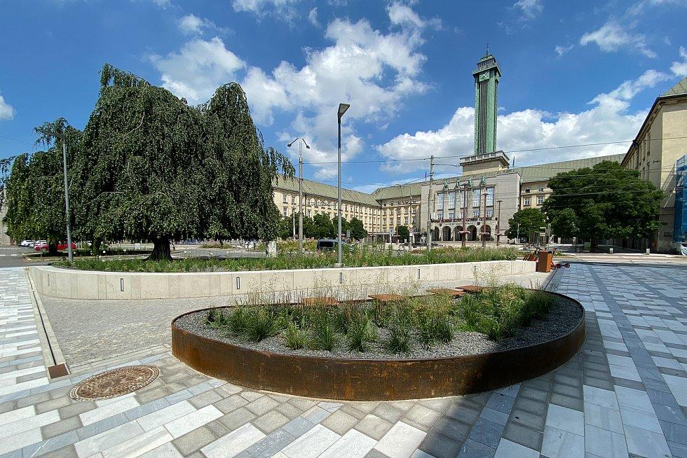 Rekonstrukce části Prokešova náměstí v Ostravě.