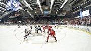 Čtvrtfinále play off hokejové extraligy - 4. zápas: HC Vítkovice Ridera - HC Oceláři Třinec, 25. března 2019 v Ostravě.