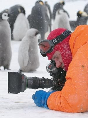 Záběr z filmu Putování tučňáků