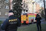 Výbuch bytu v Ostravě-Hrabůvce.