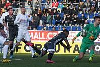 Fotbalisté Baníku v neděli se Slováckem hrát nebudou. Kvůli prudkému nárůstu nemocných na covid-19. Snímek z utkání 21. kola (15. února 2020) v Uherském Hradišti.