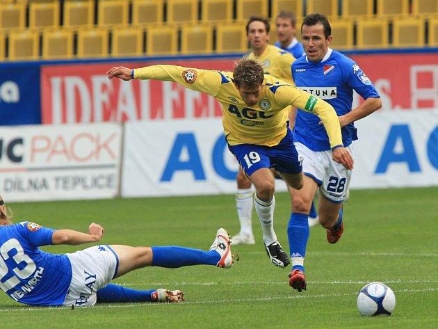 Ze zápasu FK Teplice – FC Baník Ostrava