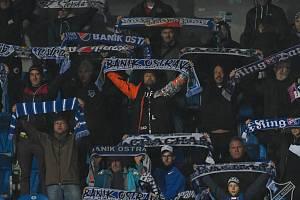 Richard Krajčo v Ostravě na zápase Baníku proti Zlínu, 5. října 2019