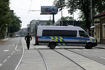 Bezpečnostní opatření při nahlášení bomby v Ostravě-Vítkovicích. Ilustrační foto.