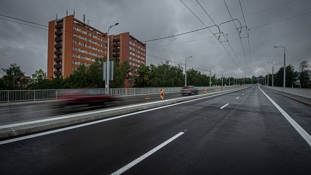 Estakáda Bazaly po tříleté rekonstrukci, 29. června 2020 v Ostravě.