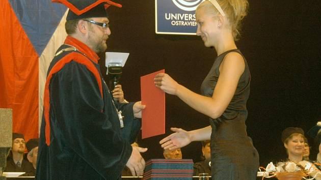 Promoce na Ostravské univerzitě