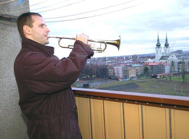 Petr Handl zahraje na svou trubku každý Štědrý den