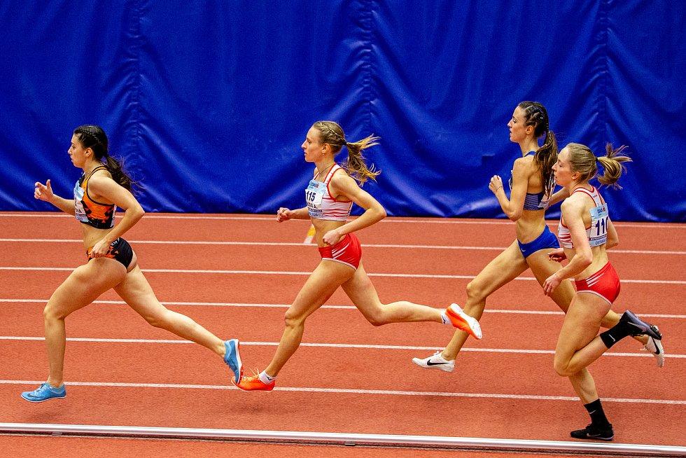 Halové mistrovství ČR mužů a žen v atletice, 23. února 2020 v Ostravě. 800 metrů ženy.