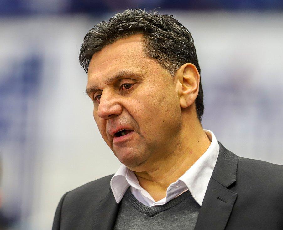 Utkání 39. kola hokejové extraligy: HC Vítkovice Ridera - Mountfield Hradec Králové, 24. ledna 2020 v Ostravě. Na snímku trenér Hradce Králové Vladimír Růžička.