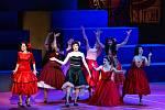 Generální zkouška světového muzikálu West Side Story s hudbou Leonarda Bernsteina v Divadle Jiřího Myrona 4. února 2020 v Ostravě.