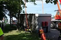 Zásah hasičů v Porubě.