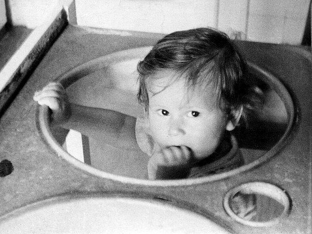 Ostravský primátor Petr Kajnar na snímku z dětství.