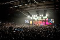 Skupina Chinaski zahájila v Ostravě podzimní turné k aktuálnímu albu Není nám do pláče, snímek z 24. října 2017 v Ostravar Aréně.
