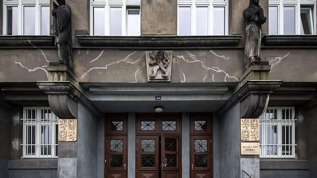 Budova krajského soudu v Ostravě.