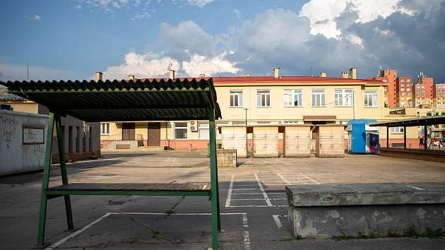 Náměstí SNP v městské části Ostrava-Jih. Ilustrační foto, srpen 2019.
