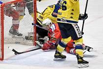 Utkání play off, čtvrtfinále, hokejové Chance ligy - 3. zápas: HC RT Torax Poruba - HC Zubr Přerov, 23. března 2021 v Ostravě.