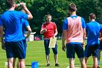 Fotbalisté Baníku trénují v Šilheřovicích pod vedením kouče Radima Kučery.