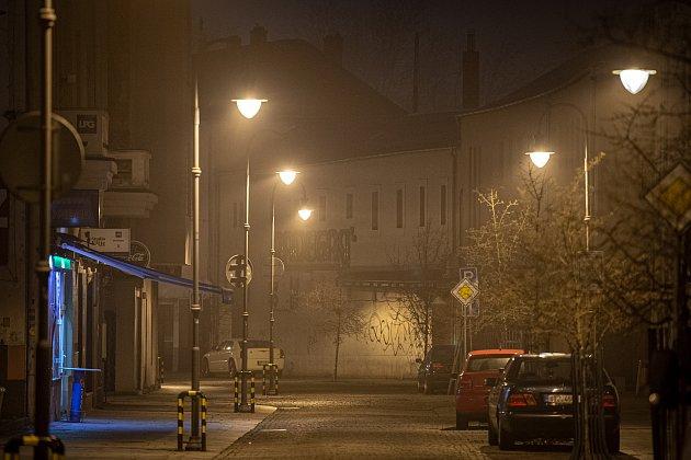 Skoro prázdná stodolní ulice, 31.prosince 2020vOstravě.