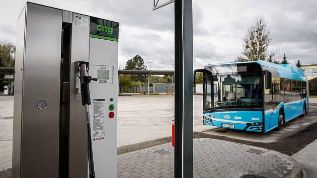 Nová čerpací stanice na CNG pro DPO v Hranečníku.