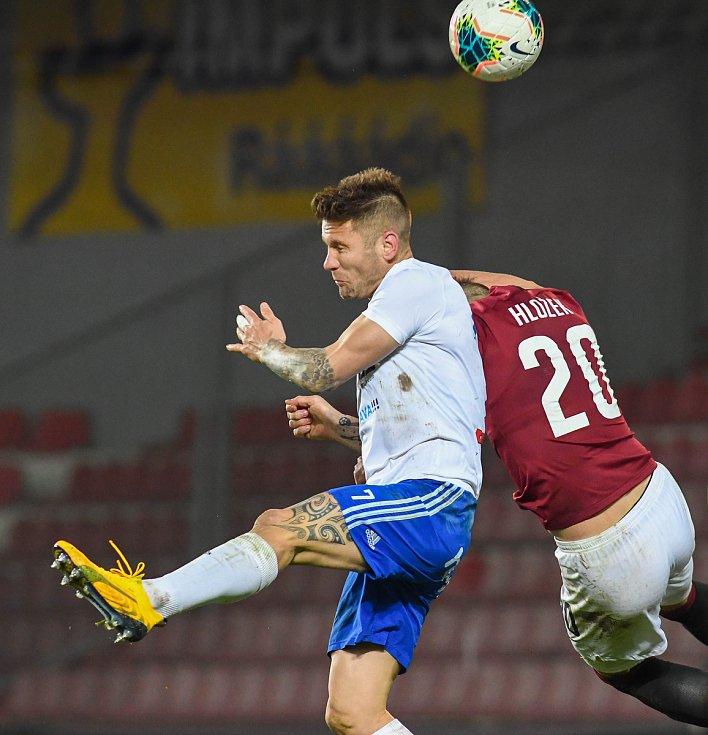Martin Fillo - Čtvrtfinále MOL Cup AC Sparta Praha - FC Baník Ostrava, Generali Česká pojišťovna Aréna, Praha, 4. března 2020.