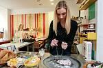 ICEROLL. Rolovaná zmrzlina se připravuje na speciální mrazící pánvi přímo před očima zákazníka. Je to požitek nejen pro chuťové buňky, ale také pro oči.