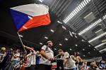 1. kolo tenisového Fed Cupu: Česká Republika - Rumunsko, 10. února 2019 v Ostravě. Na snímku fanoušci česka.