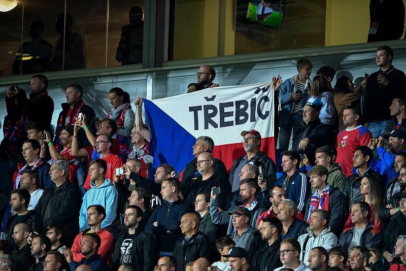 Utkání skupiny E kvalifikace mistrovství světa ve fotbale: Česko - Bělorusko, 2. září 2021 V Ostravě. Fanoušci.