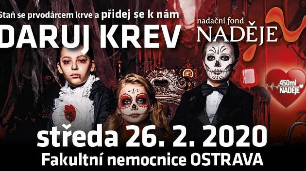 Staň se prvodárcem a daruj krev v Krevním centru FN Ostrava.