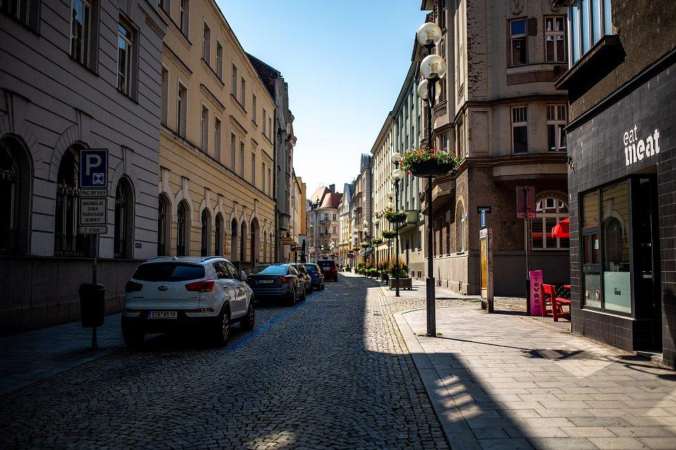 Prázdné centrum Ostravy. 19. června 2021 v Ostravě.