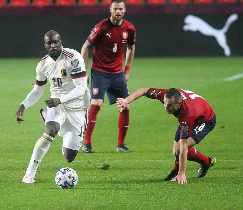Kvalifikace  fotbalové reprezentace na MS 2022 proti Belgii 27.3.2021 v Praze Sinobo Stadium. FOTO CPA