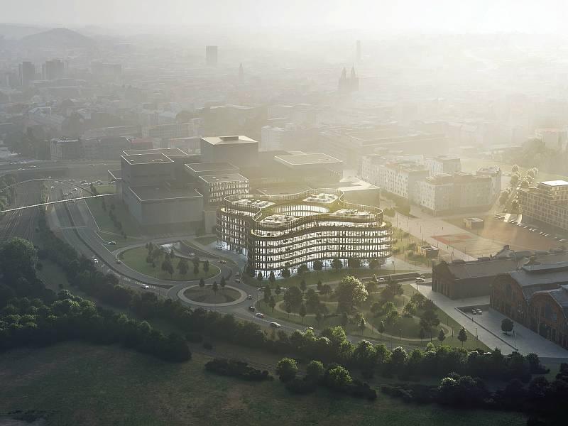 Takto bude vypadat nová kancelářská budova v centru Ostravy, která ponese příznačné jméno Organica.