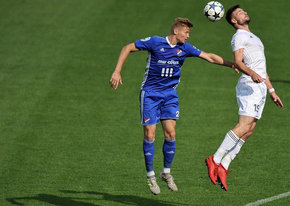 Utkání 29. kola první fotbalové ligy: MFK Karviná - Baník Ostrava, 19. května 2018 v Karviné. (vlevo) Procházka Václav a Wágner Tomáš.