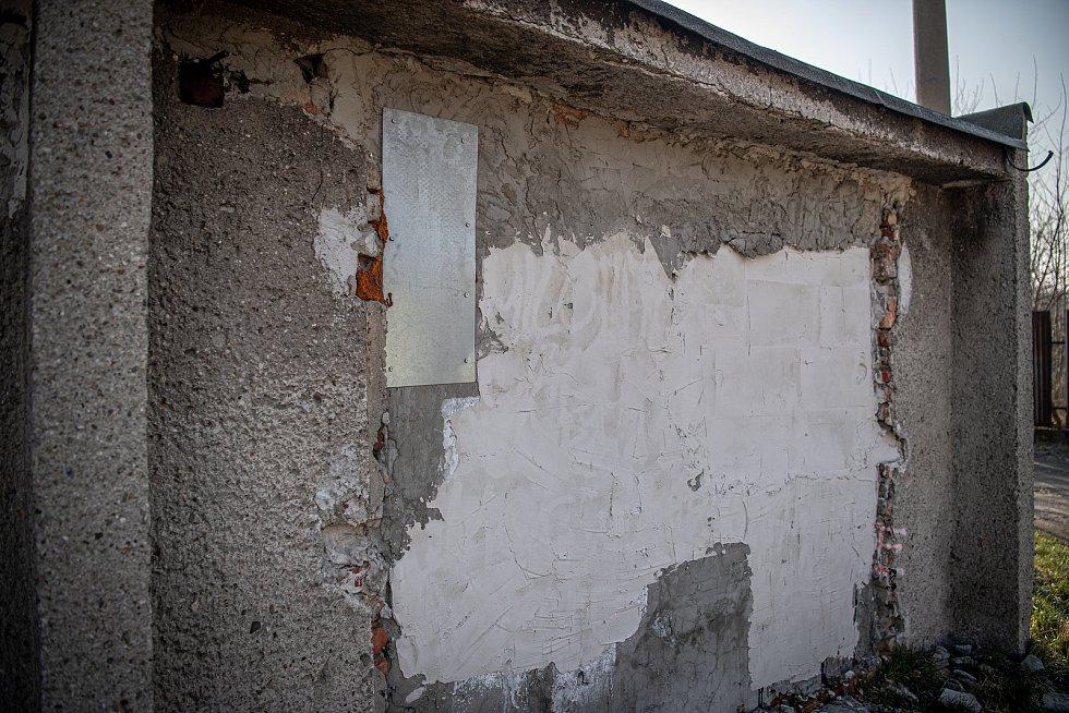 Garáže v Ostravě-Muglinově, březen 2021.