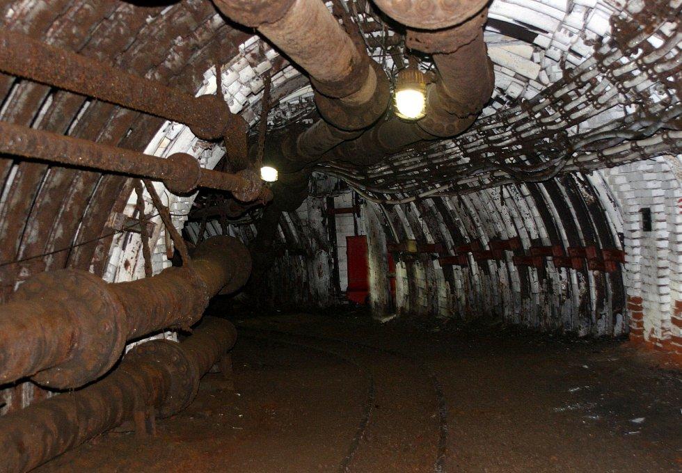 PŘEKOP čili hlavní důlní dílo 600 metrů pod zemí ve Vítkovicích.