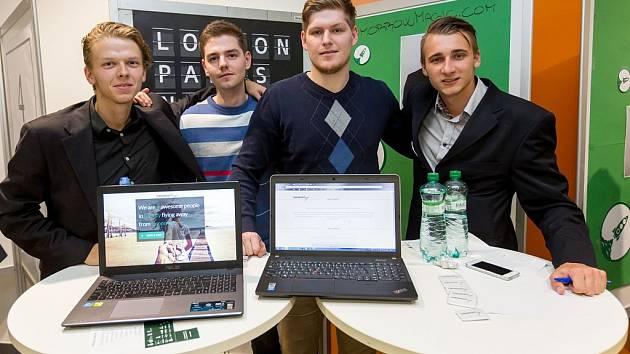 Tým tvůrců zleva Lukáš Řezanina, Dominik Chytil, Michal Dombrovský a Lukáš Hájek.