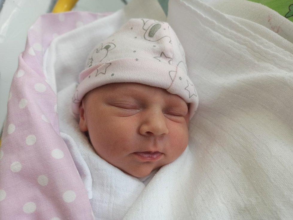 Anna Zarembová, Vendryně, narozena 15. června 2021, míra 51 cm, váha 3930 g Foto: Gabriela Hýblová