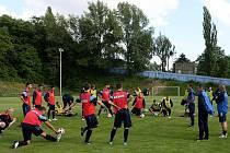 Trénink FC Baníku Ostrava. Ilustrační foto.