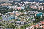 Nová budova ekonomické fakulty bude stát v univerzitním kampusu v těchto místech.