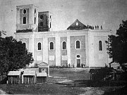 Kostel na Cvilíně vyhořel 21. srpna 1865.