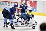 43. kolo hokejové extraligy mezi HC Vítkovice Ridera - HC Rytíři Kladno v Ostravě dne 2. února 2020. Na snímku (zleva) Brendon Nash z Kladna a Nicolas Werbik z Vítkovic.