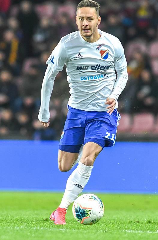 Daniel Holzer - Čtvrtfinále MOL Cup AC Sparta Praha - FC Baník Ostrava, Generali Česká pojišťovna Aréna, Praha, 4. března 2020.