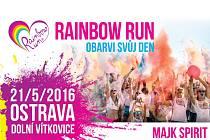 Plakát k letošnímu ročníku Rainbow run v Ostravě.